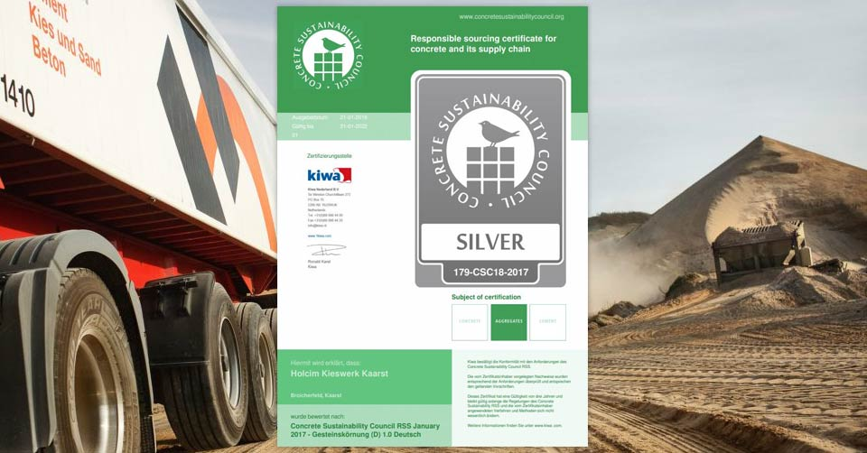 CSC-Zertifikat deutsches Kieswerk