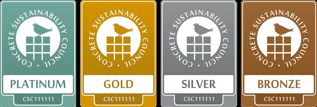 CSC-Zertifikate Platin, Gold, Silber und Bronze